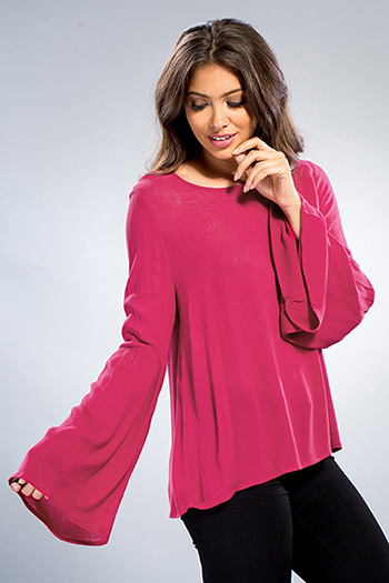 Junior Bell Sleeve Top with Caged Back