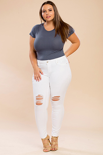 Junior Plus Size Super Soft Skinny Jeans