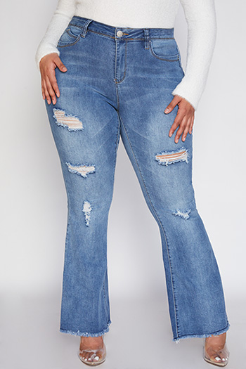 Junior Plus Size WannaBettaButt Super Flare Jean
