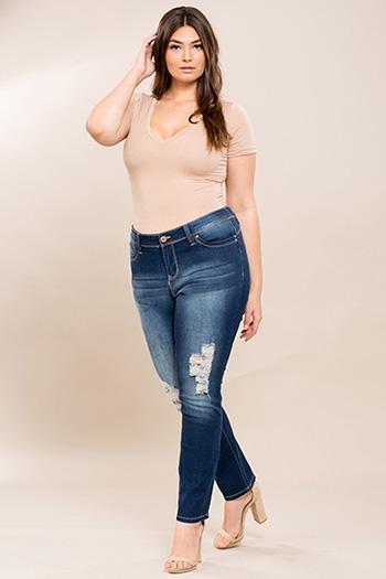Junior Plus Size WannaBettaButt Skinny Jean