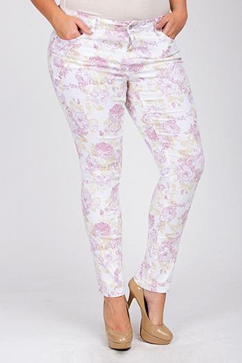 Junior Plus Size Floral Skinny Jean