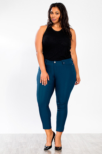 Junior Plus Size Hyperstretch Skinny