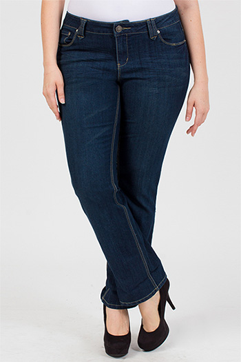 Junior Plus Size Essential Slim Roll-Up Jeans