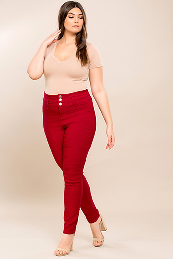 Junior Plus Size High-Rise Hyperstretch Skinny