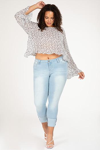 Junior Plus Size WannaBettButt Cuffed Denim Skinny Jean