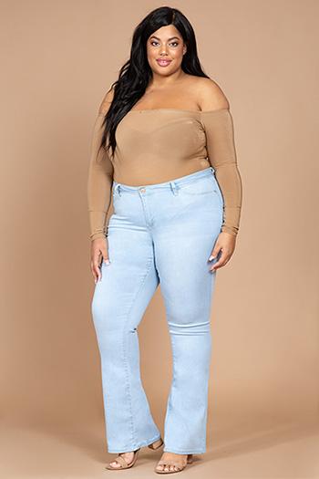 Junior Plus Size Super Soft Flare Jean