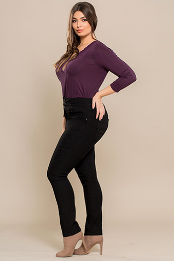 Junior Plus Size Hyperstretch High-Waist Pant