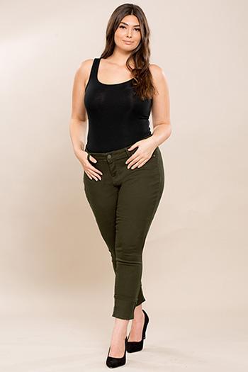 Junior Plus Size Mega Cuffed Skinny Jean