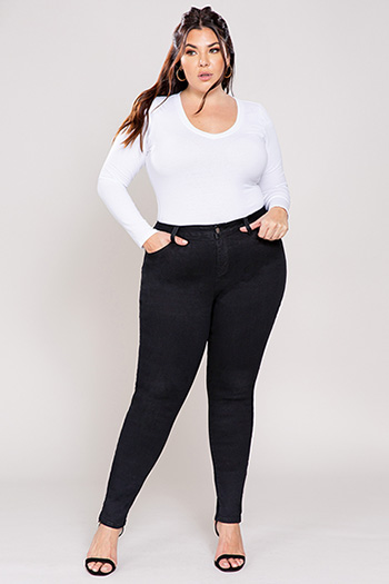 Junior Plus Size High-Waist Skinny Jean