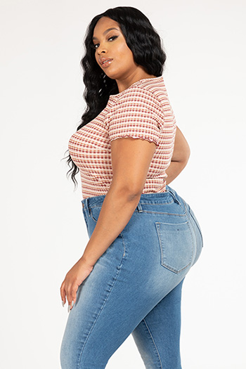 Junior Plus Size Hide Your Muffin Top High-Waist Denim Skinny Jean