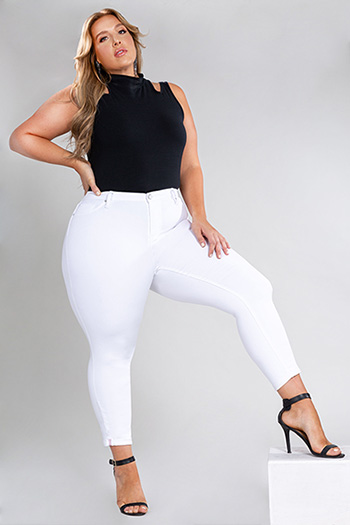 Junior Plus Size Hide Your Muffin Top Hi-Waist Denim Ankle Jeans