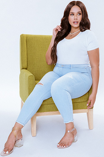 Junior Plus Size Hide Your Muffin Top Ankle Jeans