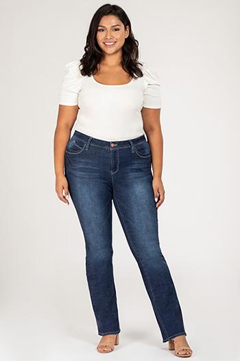 Junior Plus Size Mid-Rise Bootcut Jean