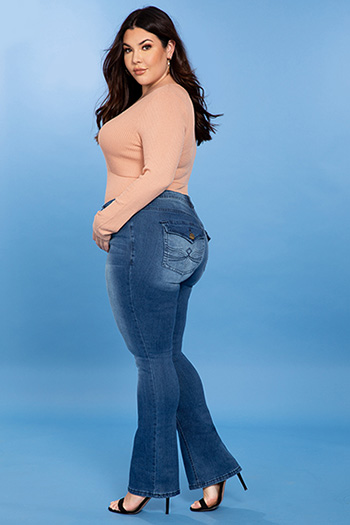 Junior Plus Size Mid-Rise Bootcut Jeans