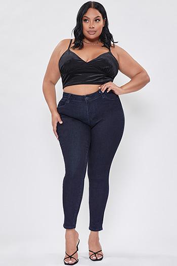Junior Plus Size Secrets Double Yoke Super High-Rise Skinny Jean
