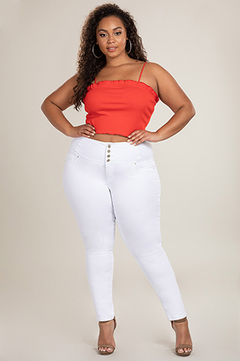 Junior Hide Your Muffin Top 4-Button High-Rise Skinny Jean
