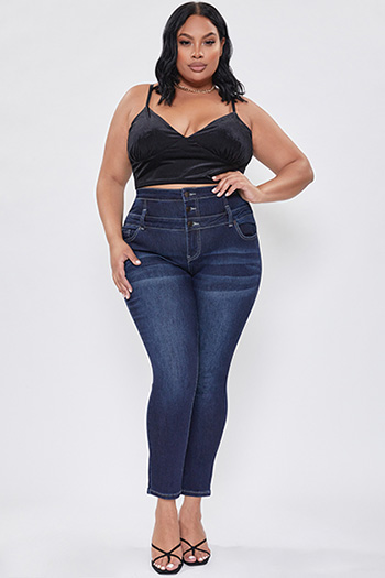 Junior Plus Size Secrets Corset Sky High Skinny Jean