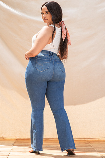 Junior Plus Size WannaBettaButt High-Rise Flare Jean Made With Recycled Fibers
