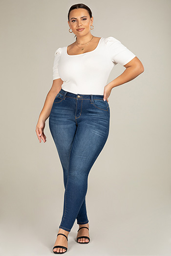 Junior Plus Size WannaBettaButt High-Rise Skinny Jean