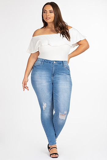 Junior Plus Size Curvy Fit Ultra High-Rise Skinny Jean