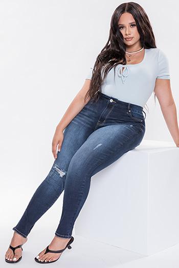 Junior Plus Size Curvy Fit Ultra High-Rise Skinny Jean