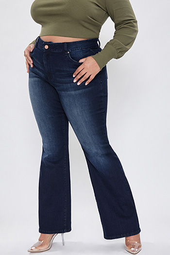 Junior Plus Size Basic Flare Jean