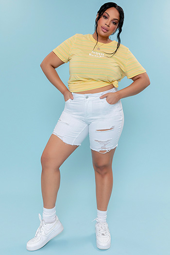 Junior Plus Size Dream Mid-Rise Long Shorts