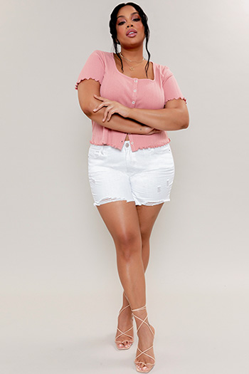 Junior Plus Size High-Rise Dream Shorts