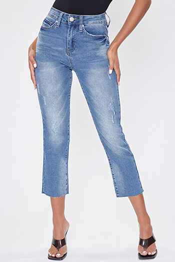 Junior Vintage Dream Raw Slim Straight Hem Ankle Jean