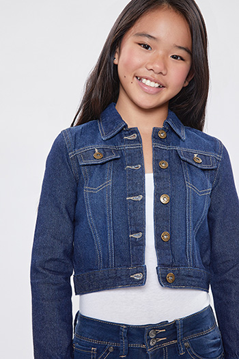 Girls Basic Denim Jacket