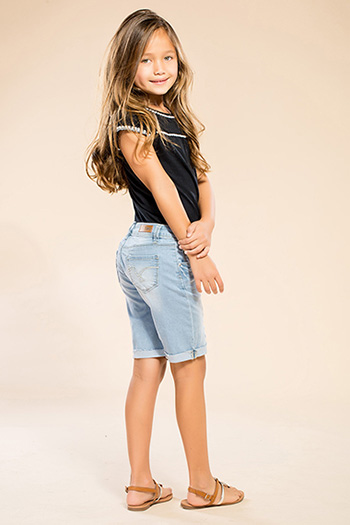 Kids Luxe Distressed Bermuda