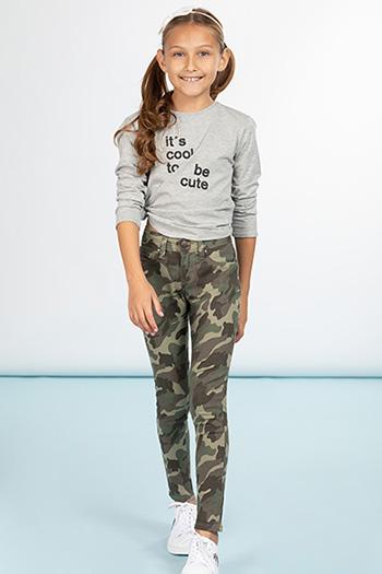 Girls Basic Twill Skinny Pants