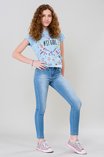 Girls Basic Denim Skinny Jean