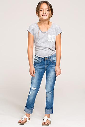 Kids WannaBettaFit Cuff Skinny Jeans