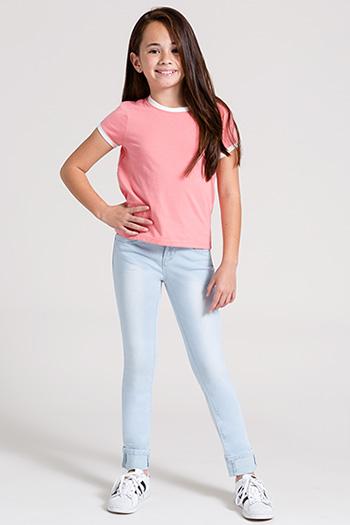 Kids WannaBettaFit Wide Cuff Skinny Jean