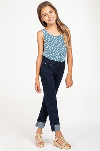 Kids WannaBettaFit Cuffed Denim Skinny Jean