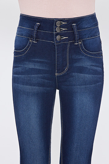 Girls 3-Button High Rise Skinny