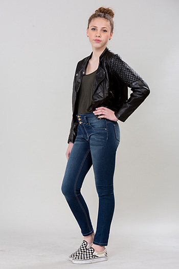Kids 3-Button High Rise Skinny