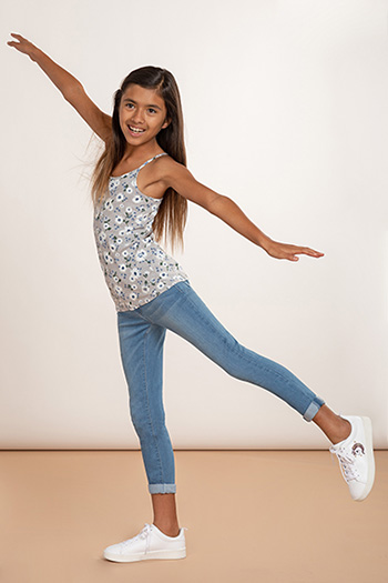 Kids Versatile Cuff Skinny Jeans