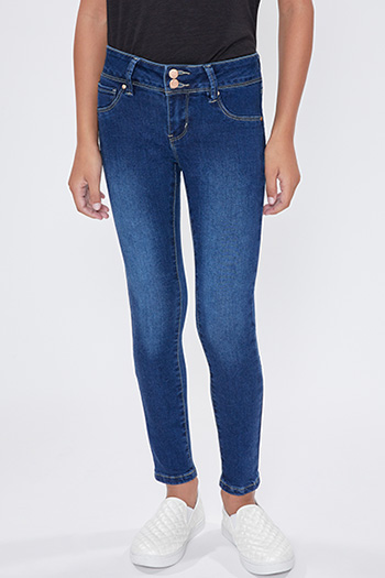 Girls 2 Button Basic Skinny Jean