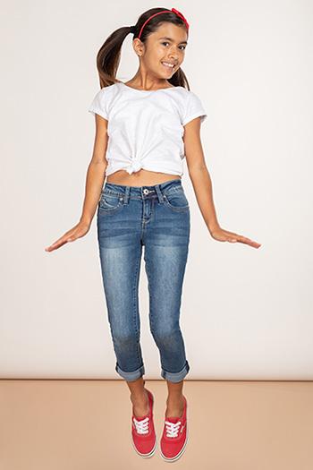 Kids WannaBettaFit Cuffed Skinny Jeans