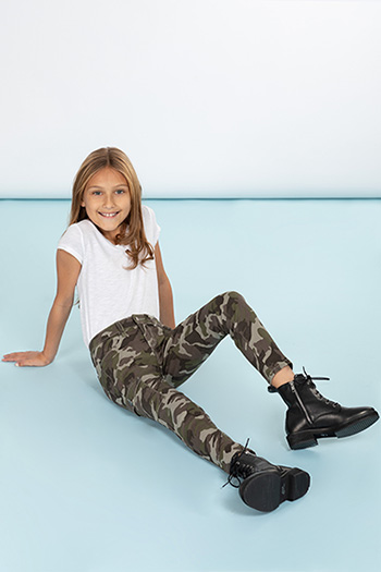 Girls Skinny Pant With Cargo Pockets