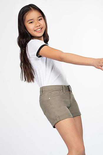 Girls Rolled Cuff Shorts