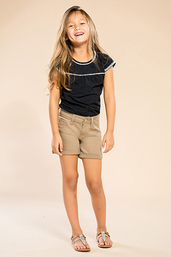 Kids Basic Cuffed Shorts