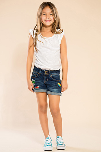 Kids 2-Button Shorts with Patches