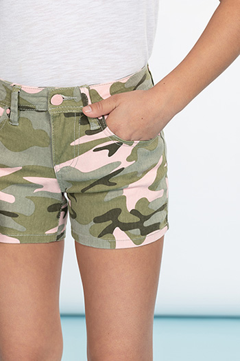 Girls Basic Twill Shorts
