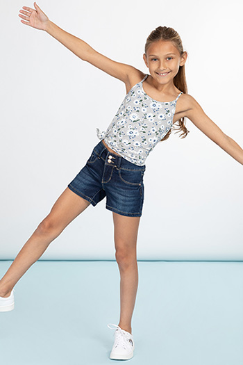 Girls 2 Button Basic Shorts