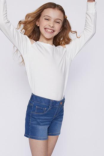 Girls Pull-On Denim Shorts