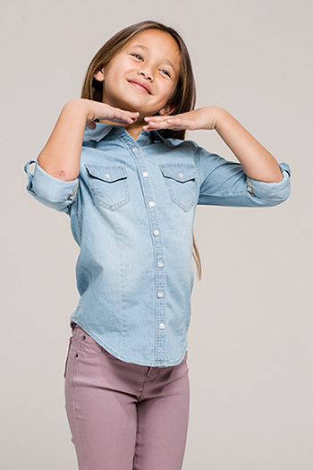 Kids Chambray Button-Up Shirt