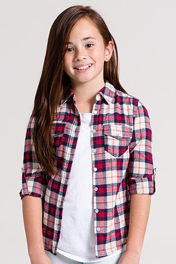 Kids Plaid Flannel Top